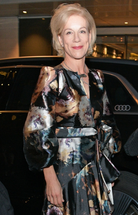 Juliet stevenson arrives in an audi at the evening standard theatre awards at the london coliseum on sunday 24 november 2019