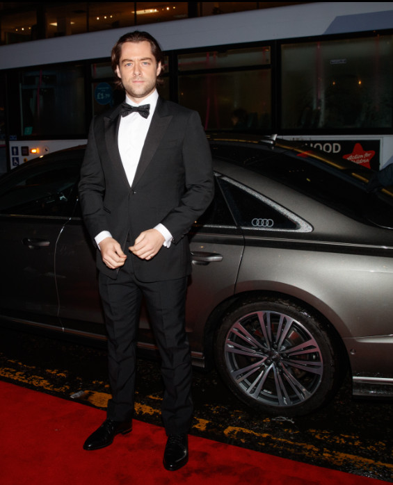 Richard rankin arrives in an audi at the british academy scotland awards 2019, glasgow, sunday 03 november 2019