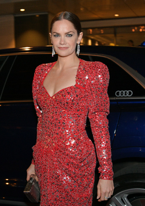 Ruth wilson arrives in an audi at the evening standard theatre awards at the london coliseum on sunday 24 november 2019