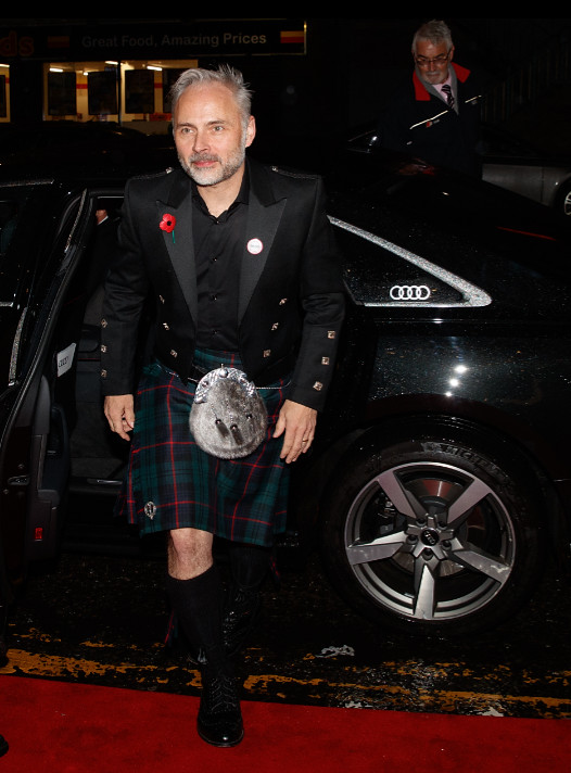 Sam heughan arrives in an audi at the british academy scotland awards 2019, glasgow, sunday 03 november 2019