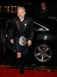Sam heughan arrives in an audi at the british academy scotland awards 2019, glasgow, sunday 03 november 2019