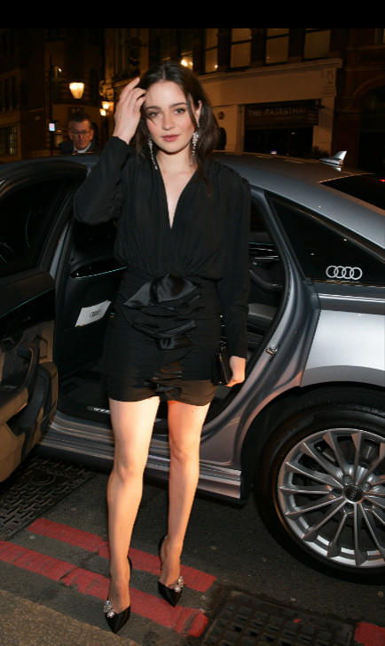 Aisling franciosi arrives in an audi at the british independent film awards at old billingsgate, london, on sunday 01 december 2019