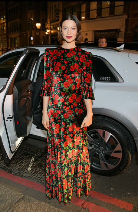 Caitriona balfe arrives in an audi at the british independent film awards at old billingsgate, london, on sunday 01 december 2019 (2)