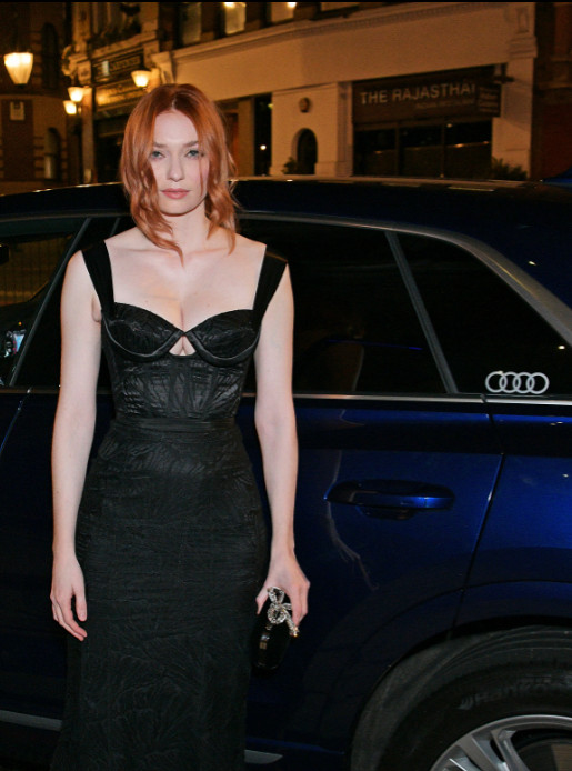 Eleanor tomlinson arrives in an audi at the british independent film awards at old billingsgate, london, on sunday 01 december 2019 (2)