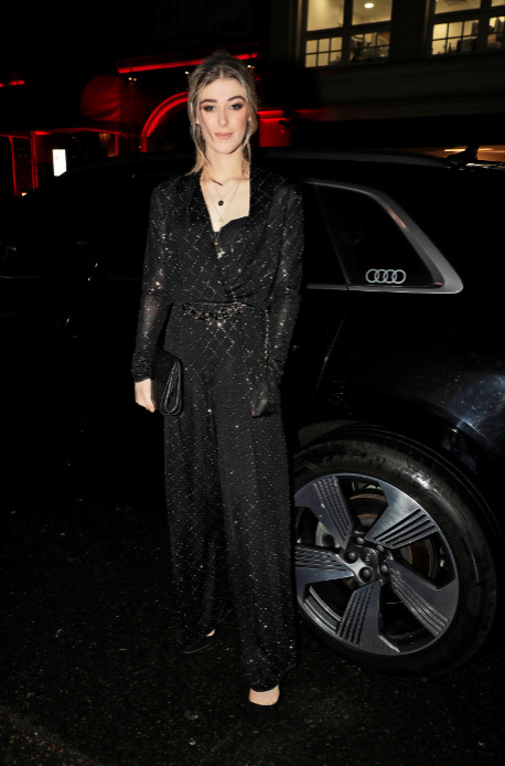 Honor swinton byrne arrives in an audi at the london critics' circle film awards, the may fair hotel, london, thursday 30 january 2020