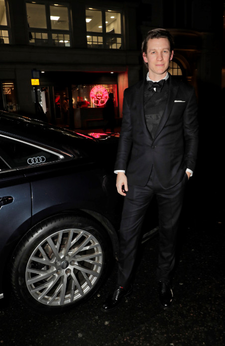 Mike beckingham arrives in an audi at the london critics' circle film awards, the may fair hotel, london, thursday 30 january 2020