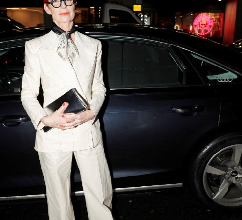 Sandy powell arrives in an audi at the london critics' circle film awards, the may fair hotel, london, thursday 30 january 2020 (2)