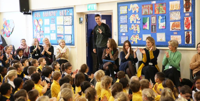 Joe salisbury australian open champ inspires school kids