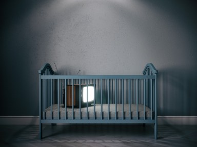 Baby cribs tv render