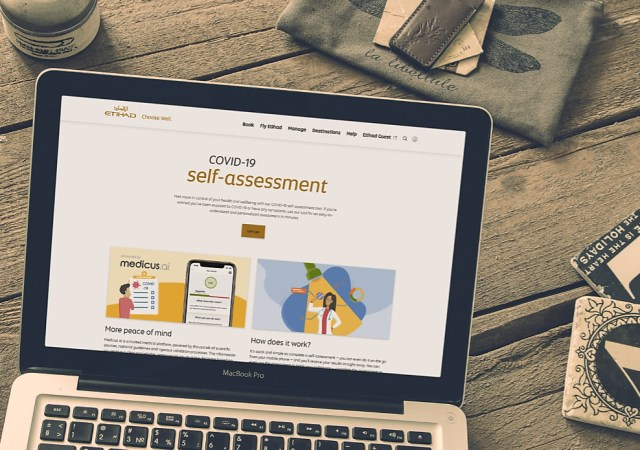 Etihad airways partners with medicus ai to launch covid 19 risk assessment tool across digital platforms