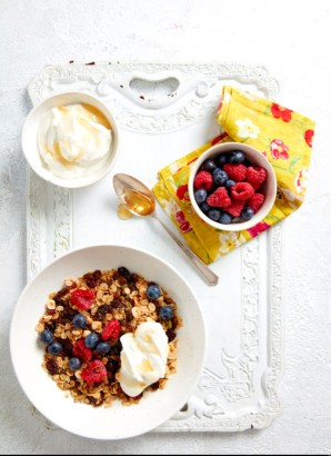 South african raisin and three seed granola