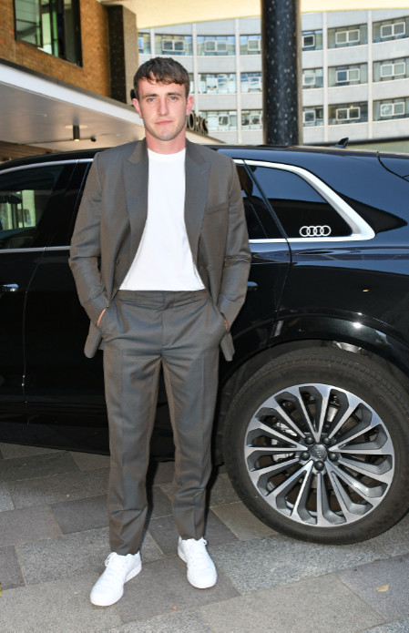 Paul mescal arrives in an audi at the virgin media british academy television awards 2020 at television centre, london, friday 31 july 2020 (2)