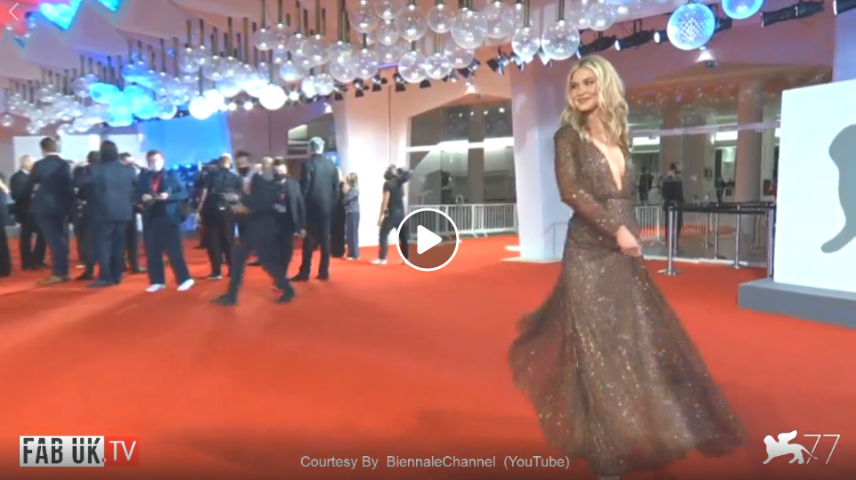 The red carpet of the film run hide fight at 77th venice film festival 2020