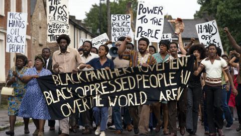 Mangrove 2020 protestors in street
