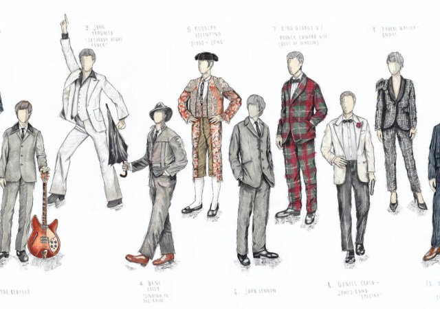Top 10 most expensive celebrity suits sold at auction, with original illustrations