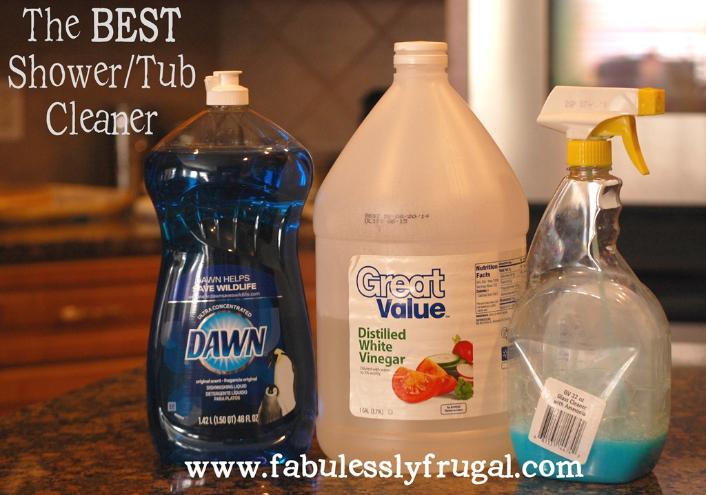 DIY TubShower Cleaner Picture Tutorial  Fabulessly Frugal