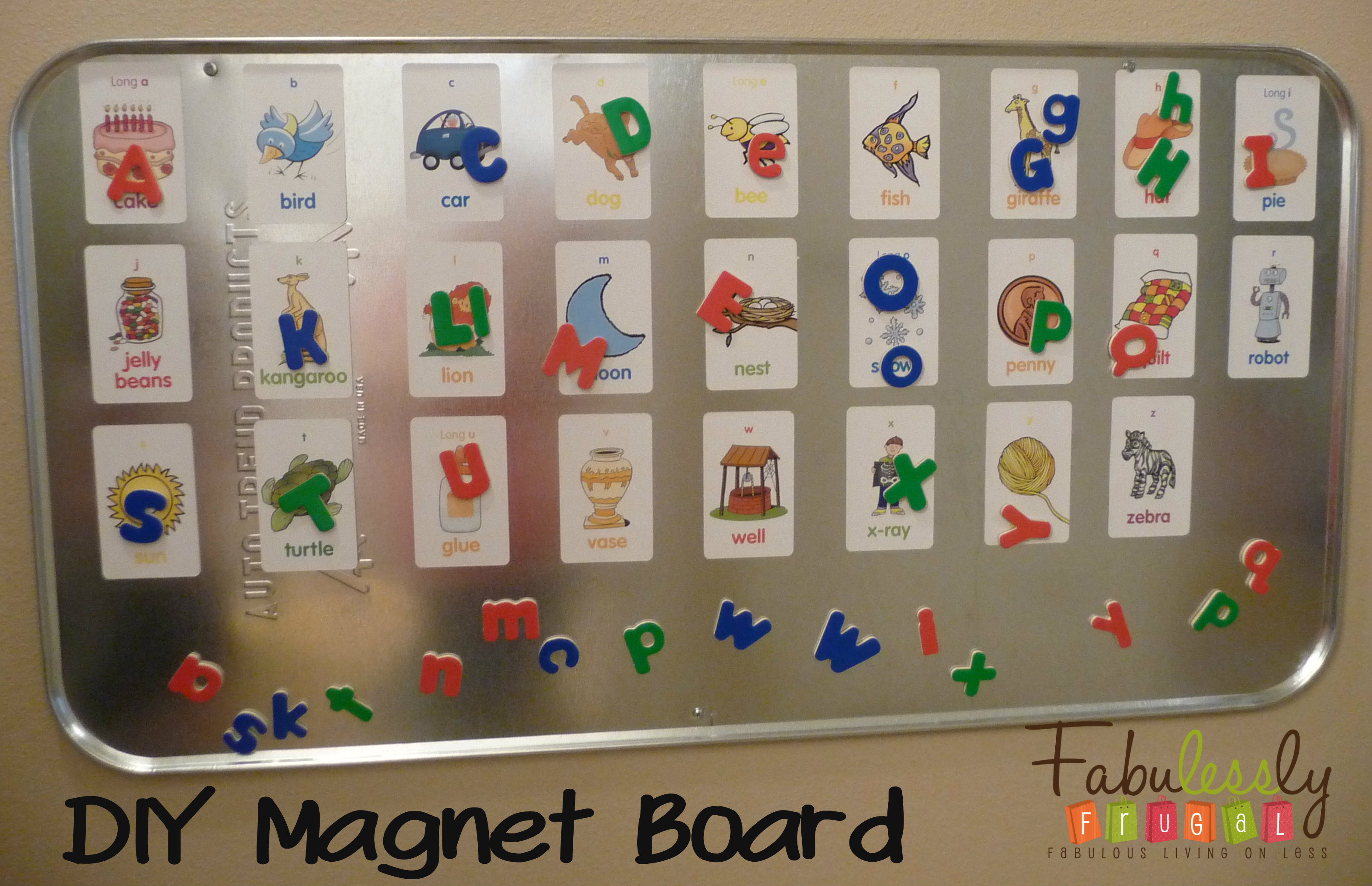 DIY Magnet Board For Your Kids