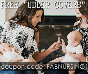 FREE NURSING COVER UDDER COVERS