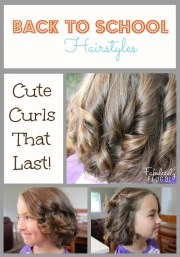school hairstyles - curls