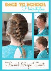 school hairstyles - french