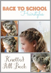 school hairstyles - knotted