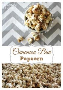 homemade cinnamon bun caramel popcorn