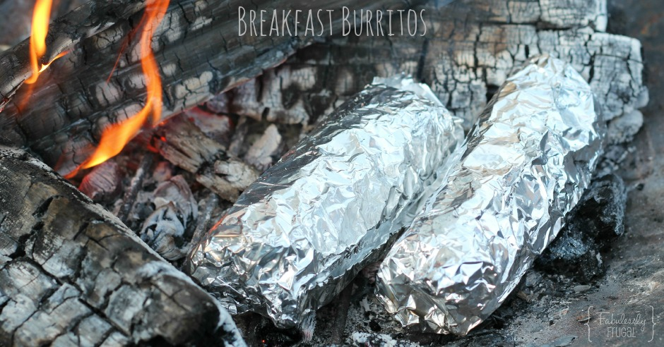 Delicious breakfast burritos for camping or freezer meal