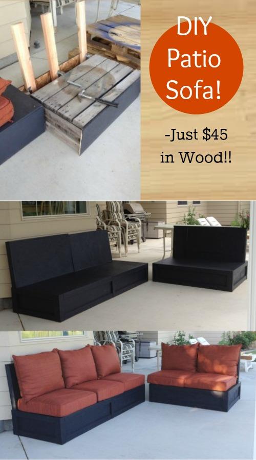 DIY Patio Sofa
