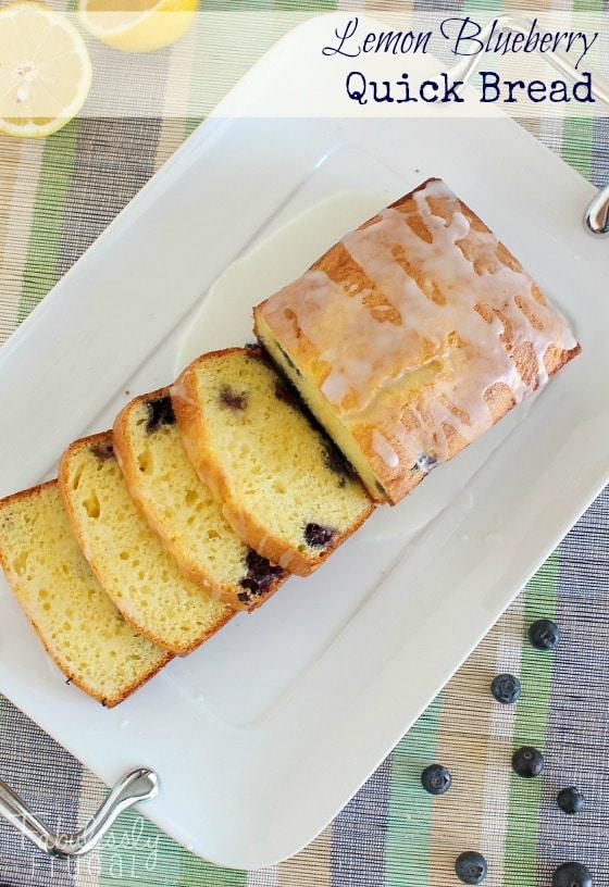 easy lemon blueberry quick bread