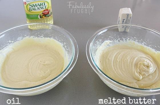 lemon blueberry bread experiment butter vs oil