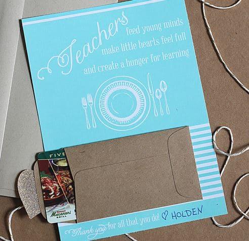 Teacher Appreciation Gift Cards