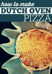 How to make Dutch Oven Pizza - See this and more at fabulesslyfrugal.com