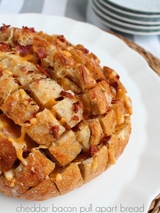 cheddar bacon pull apart bread