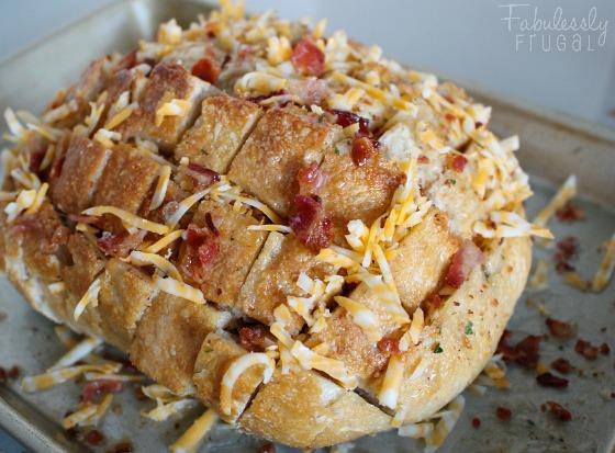 cheddar bacon stuffed bread