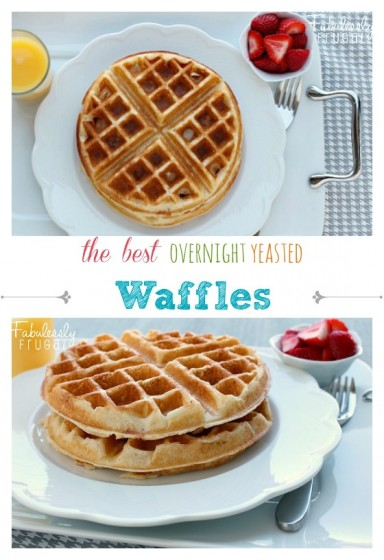 the best overnight yeasted waffles