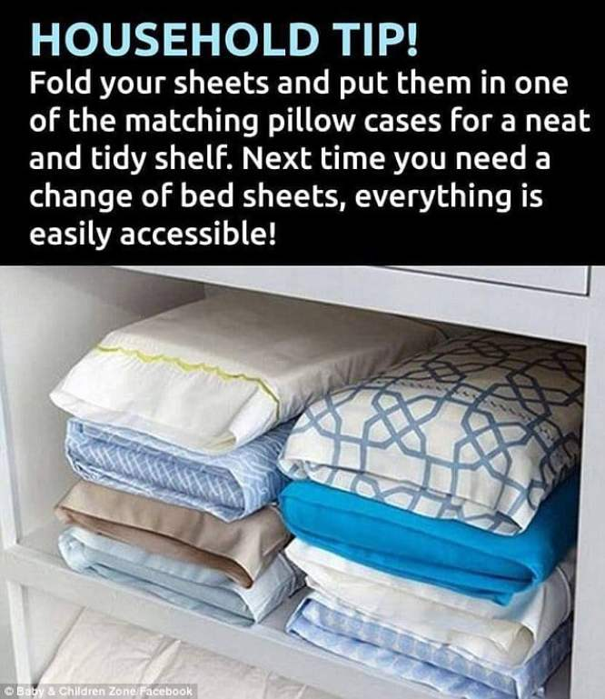 Household tip to save space in your closet