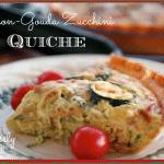Bacon-Gouda Zucchini Quiche