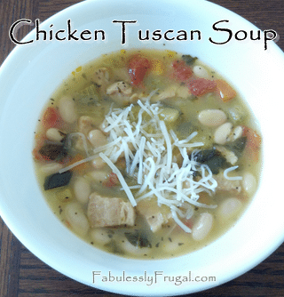 Chicken Tuscan soup