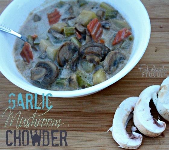 Garlic Mushroom Chowder