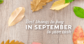 Deals in September