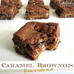 divine caramel brownies