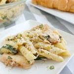 fresh lemon zucchini penne pasta dinner