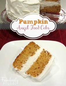 pumpkin angle food cake from a cake mix