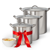 JCPenney Black Friday! Cooks Stainless Steel 3 Pack Stockpot Set $7.99...