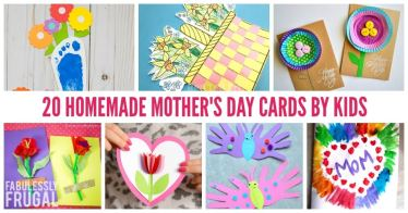 20 Homemade Mother's Day Card ideas for kids and teachers
