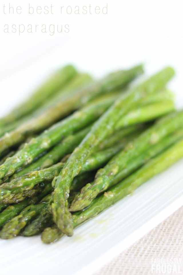 the best and easiest roasted asparagus recipe