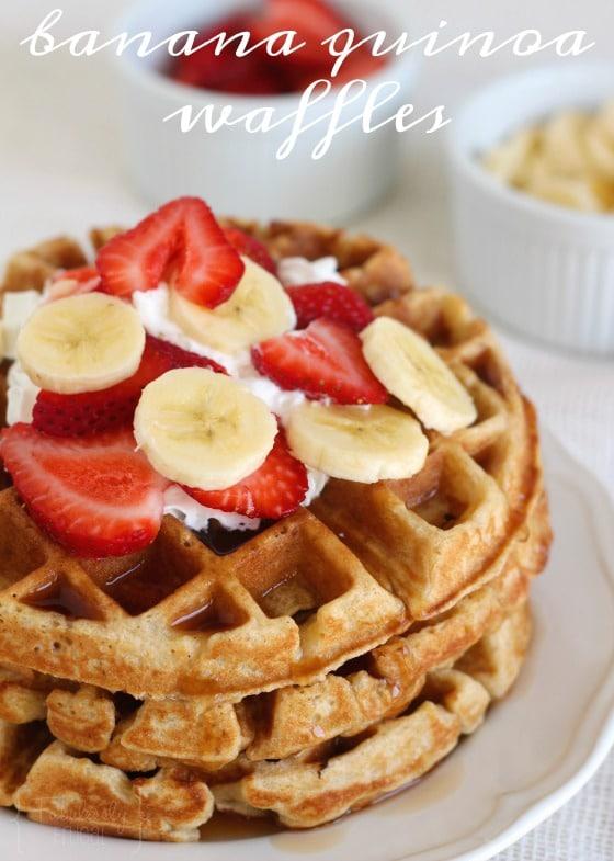 Quinoa waffle recipe with banana
