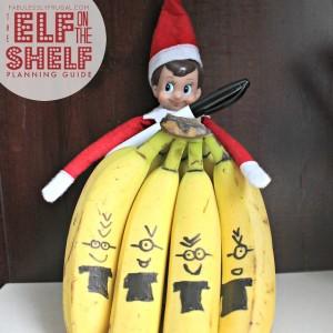 Elf on the Shelf mischievous idea Minion Bananas