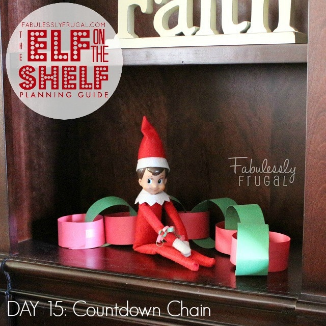 25 Days of Elf on the Shelf Ideas: Day Countdown chain