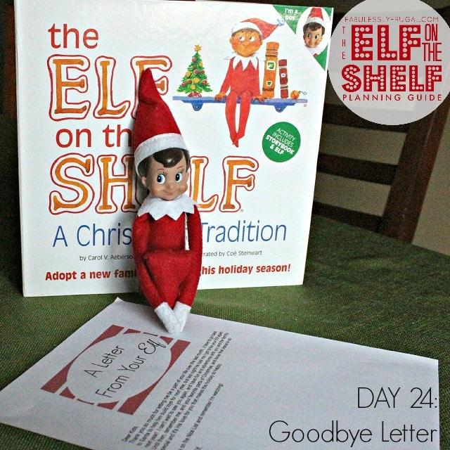 Elf on the Shelf Planning Guide Day 24 Goodbye Letter